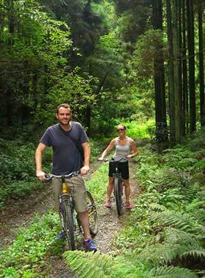 Eco Tours Japan cycling and mountain bike tours in Kofu Yamanashi Japan