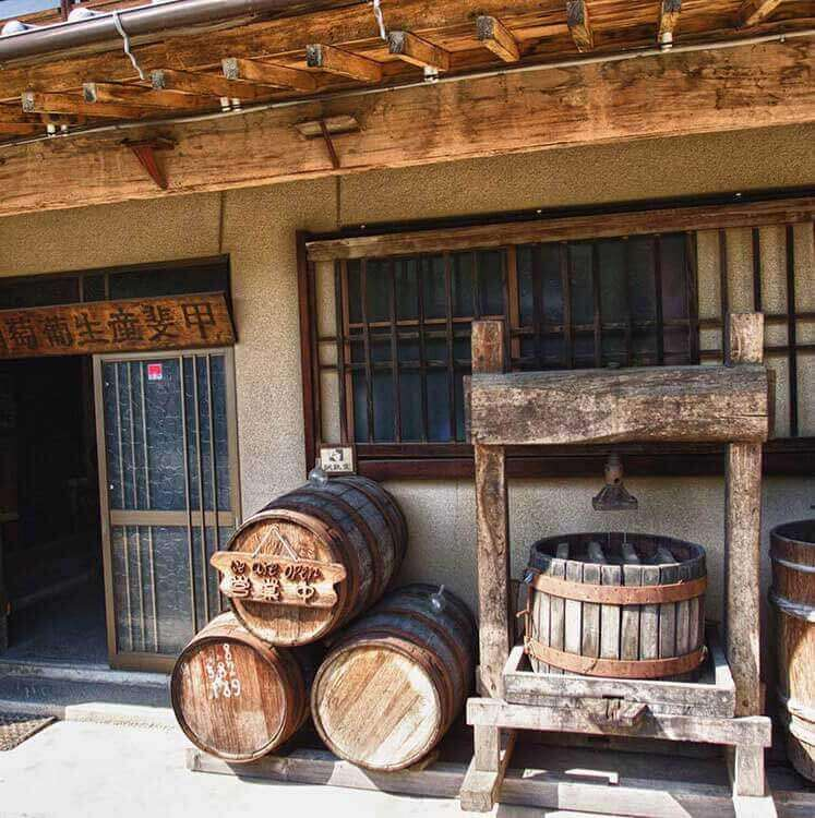 Eco Tours Japan winery and Wine Tasting tour in Katsunuma Yamanashi Japan