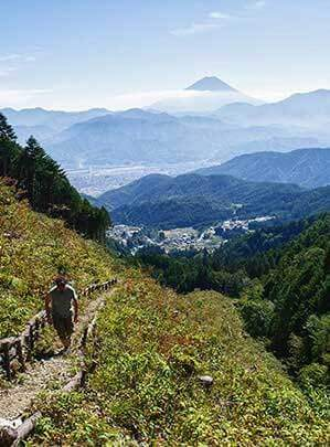 Eco Tours Japan hiking walking tours in Kofu Yamanashi Japan